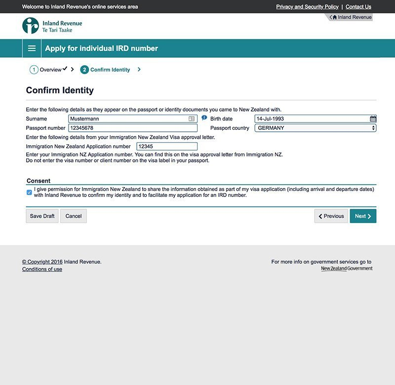 work and travel steuernummer in neuseeland beantragen