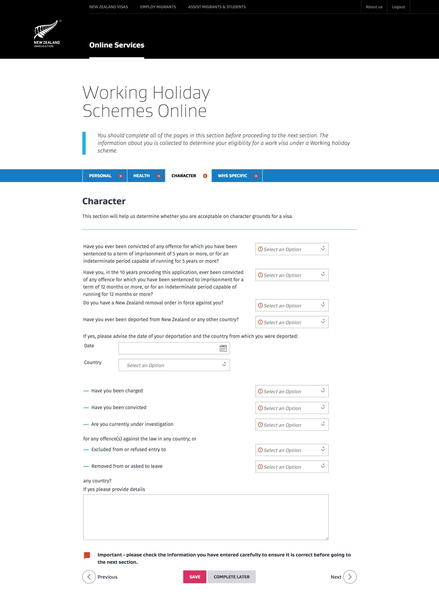Working Holiday Visum Neuseeland beantragen